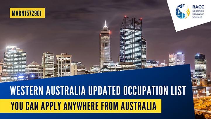 Wetsern Australia Occupation List