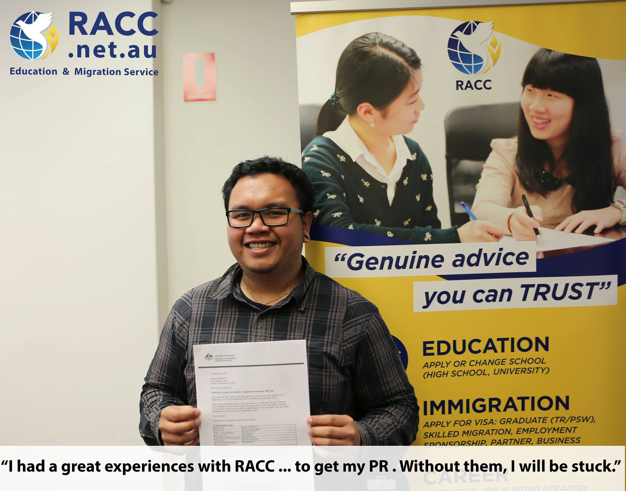 Australian Migration Agent and Education Consultant | RACC