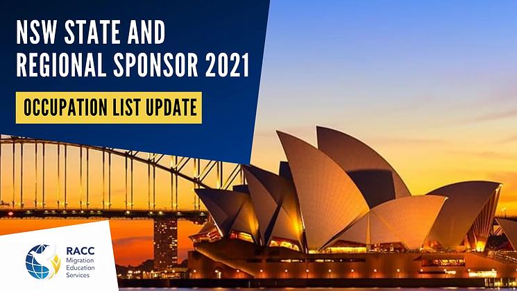 NSW State and Regional Sponsor