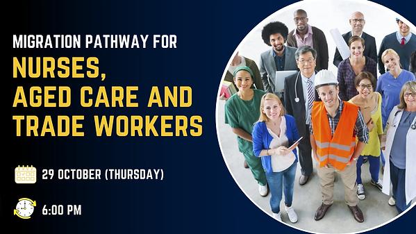 migration pathway nurses, aged care, tra