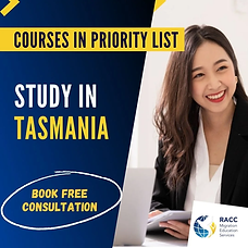 tasmania priority list courses
