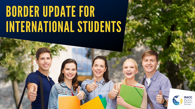 border update for international student