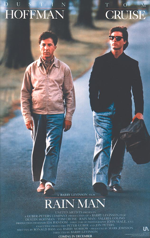 Rain Man; Dustin Hoffman, Tom Cruise