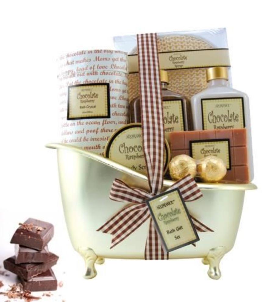 Coffret cadeau chocolat pour le bain