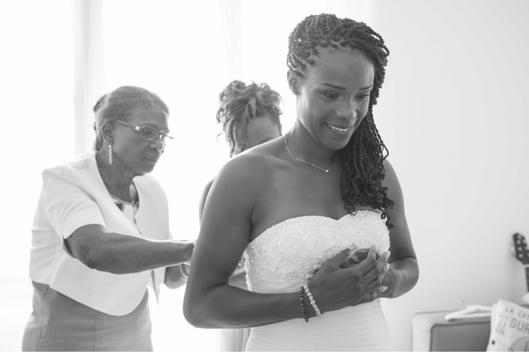 Préparatifs de la mariée - Crédit Kelly His