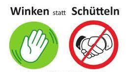Besser winken statt Händeschütteln