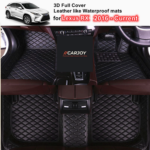 3D Waterproof Full cover Car Floor Mats for Lexus RX 5 seats 2 rows 2016 - 2021