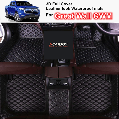 3D Moulded Waterproof leather look Car Floor Mats for Great Wall Canon GWM