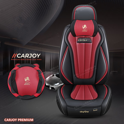 2021 CARJOY Design Handmade Premium Car seat cover H8 Burgundy