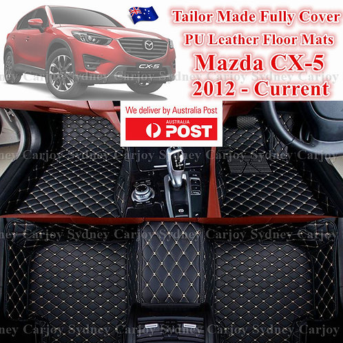 3D Cut Mazda CX-5 Customized Car Trunk PU Leather Floor Mats