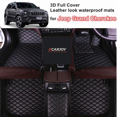 3D Moulded Waterproof Car Floor Mats for Jeep Grand Cherokee 2011 - 2021 Black