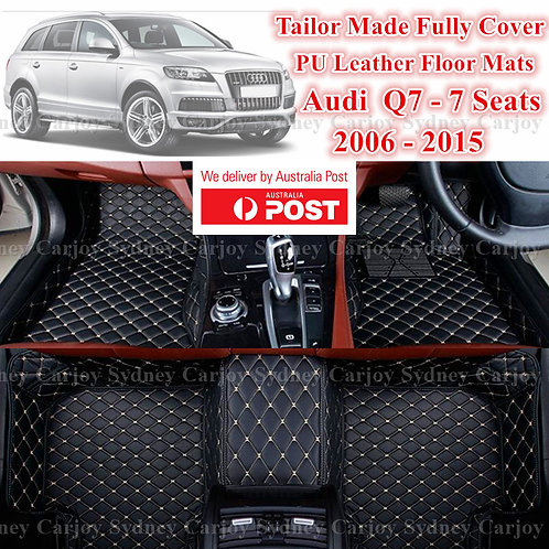3D Cut Audi Q7 7 Customized Car Trunk PU Leather Floor Mats