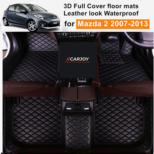 3D Moulded Fully Waterproof Car Floor Mats Cover for Mazda 2 2007-2013 all model