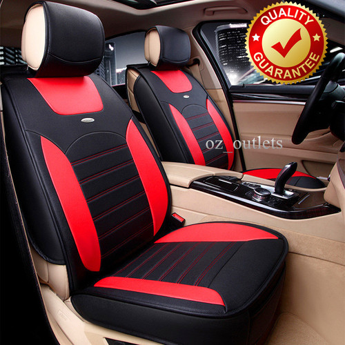 Universal Car Seat Cover Sports Red Black