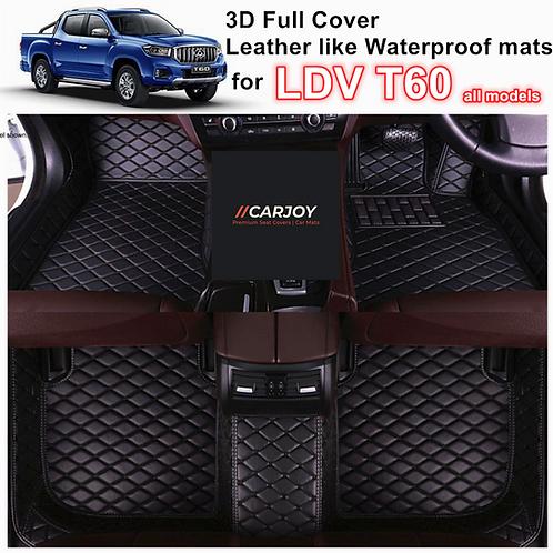 3D Moulded Customized Waterproof Car Floor Mats liner for LDV T60 all models