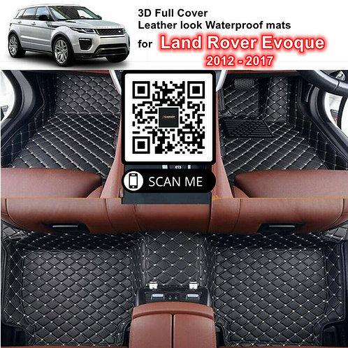 3D Custom Waterproof Moulded Car Floor Mats fits Land Rover Evoque 2012 - 2017