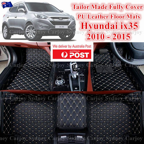 3D Cut Hyundai ix35 Customized Car Trunk PU Leather Floor Mats
