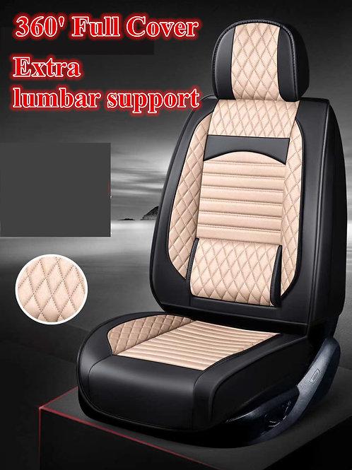 360' Padding Lumbar Support Car seat cover Light Tan