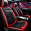 Thumbnail: PU Leather Universal 5 seats car seat cover D-1 Red