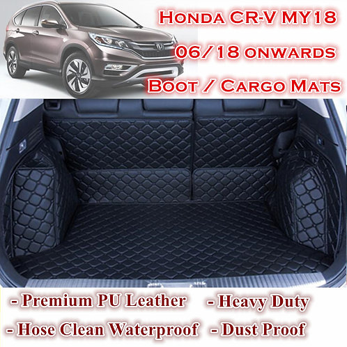 Tailor Made Waterproof Boot Liner Cargo Mats Cover for 5 Seats Honda CRV MY18 on