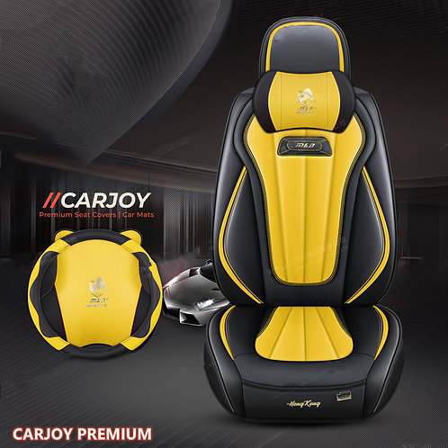 2021 CARJOY Design Handmade Premium Car seat cover H8 Yellow
