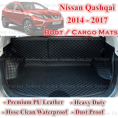 Tailored PU Leather Boot Liner Cargo Mat Cover for Nissan Qashqai 14 - Current