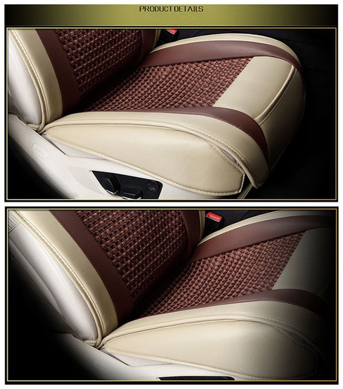 premium leather brown beige car seat cover new sydney car accessories interior exterior. Black Bedroom Furniture Sets. Home Design Ideas