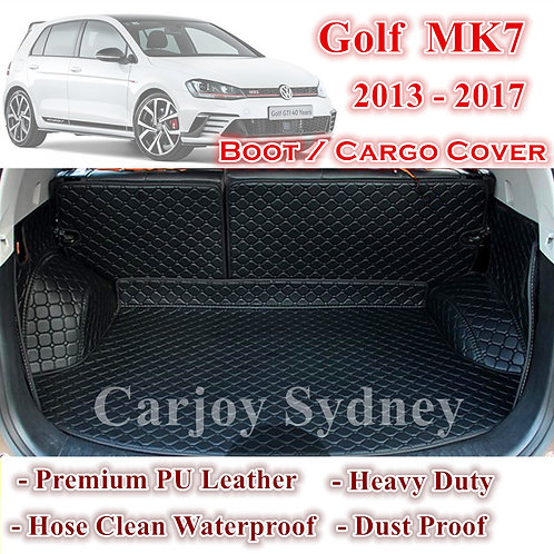 Tailor Made PU Leather Boot Cargo Mat Cover for Volkswagen Golf 7 2013 - 2017