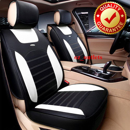 Universal Car Seat Cover Sports Black White
