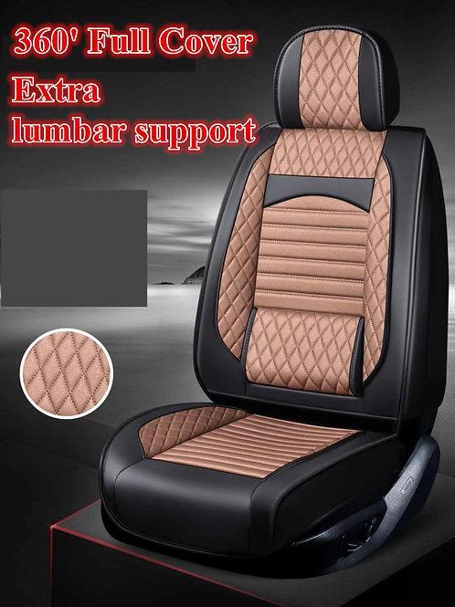 360' Padding Lumbar Support Car seat cover Brown