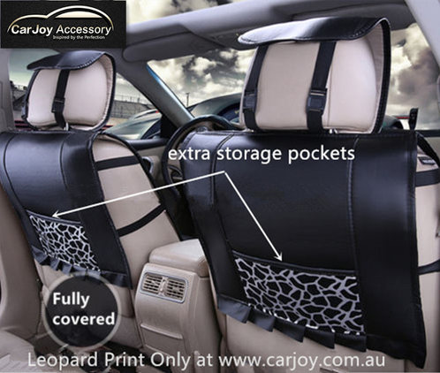 Leopard Print Snow Universal Car Seat Cover