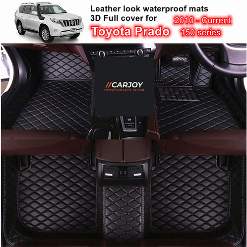 3D Waterproof Car Floor Mats for Toyota Prado 150 series 2010 - 2021 All 3 rows