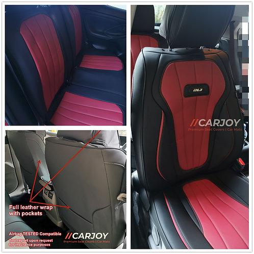 2021 CARJOY Design Handmade Premium Car seat cover H8 Maroon