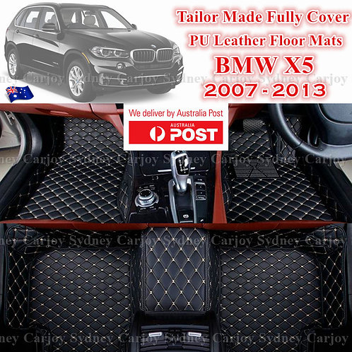 3D Cut BMW X5 07 - 13 Customized Car Trunk PU Leather Floor Mats