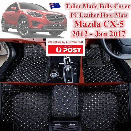3D Customized Car floor mats Leather Full coverage for Mazda KE CX5 12-17Jan