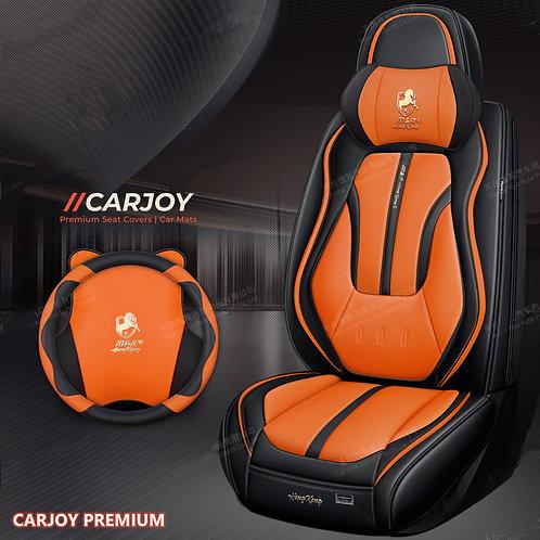 2020 Limited Design Handmade Premium Car seat cover Gold Print Orange