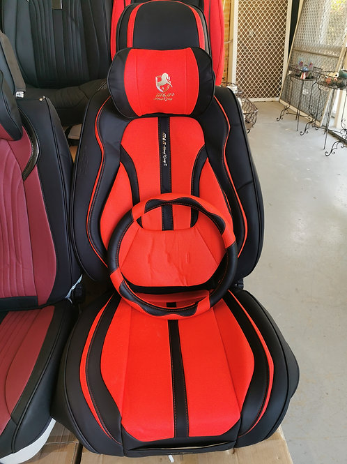 2020 Limited Design Handmade Premium Car seat cover Gold Print Red