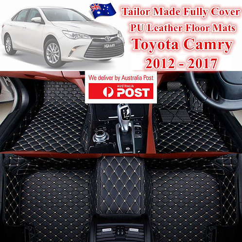 3D Customized Car floor mats Leather Full coverage for Toyota Camry 12-17