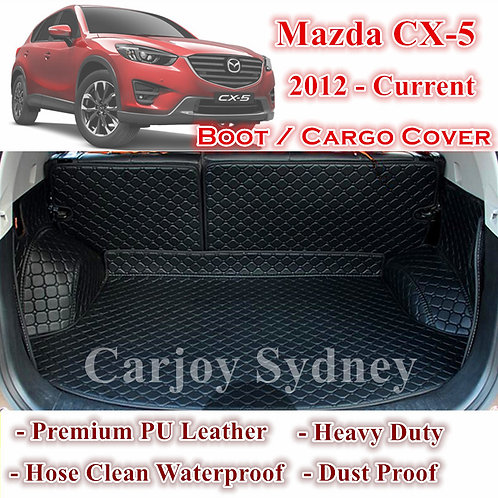 Tailor Made PU Leather Trunk Boot Liner Cargo Mat Cover for Mazda CX5 2012- 2017