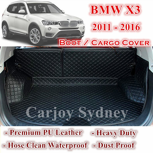 Tailor Made PU Leather Trunk Boot Liner Cargo Mat Cover for BMW X3 2011 - 2016