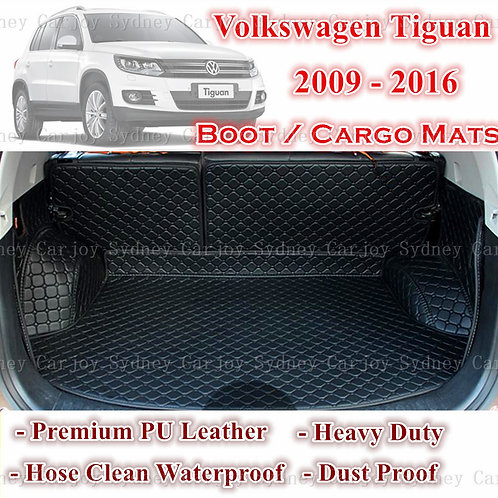 Tailored PU Leather Boot Liner Cargo Mat Cover for Volkswagen Tiguan 09 - 16