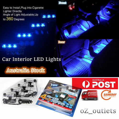 Interior Blue Neon Decorative LED Lights 12V Lamp
