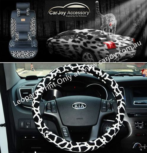 leopard print snow universal car seat cover sydney car accessories interior exterior. Black Bedroom Furniture Sets. Home Design Ideas