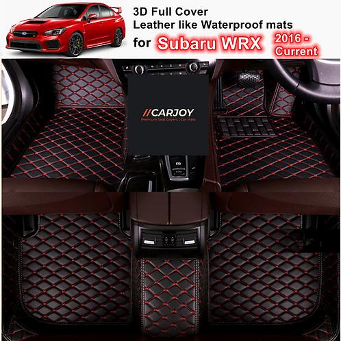 3D Moulded Customized Waterproof Car Floor Mats for Subaru WRX 2016 - 2021