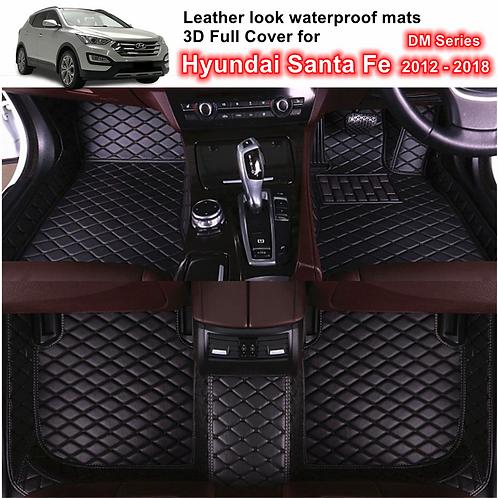 3D Customized Waterproof Car Floor Mats for 5 Hyundai Santa Fe Dec/2012 - 2018