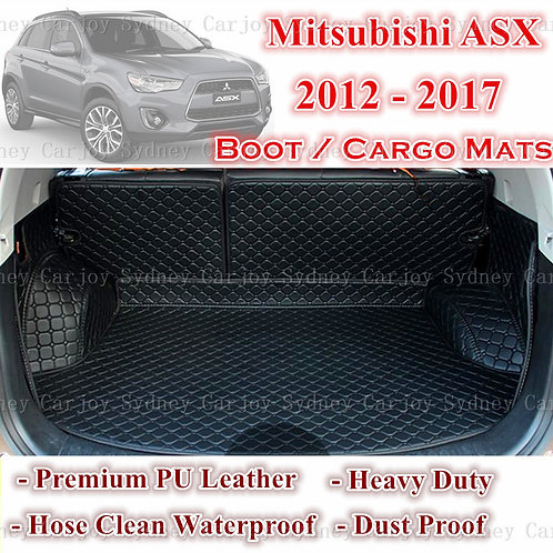 Tailored PU Leather Boot Liner Cargo Mat Cover for Mitsubishi ASX 12 - Current