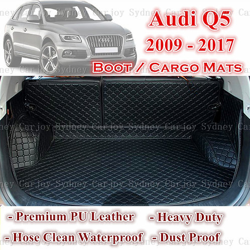 Tailored PU Leather Boot Liner Cargo Mat Cover for Audi Q5 2009 - Current