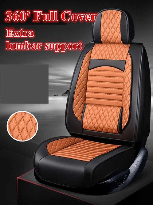 360' Padding Lumbar Support Car seat cover Orange