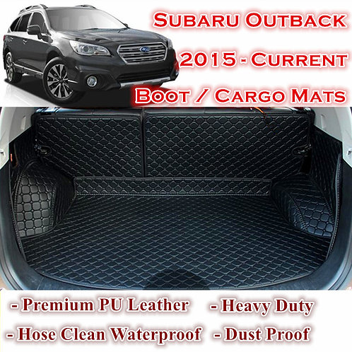 Tailor Made Waterproof Boot Liner Cargo Mats Cover Subaru Outback 2015 - 2020