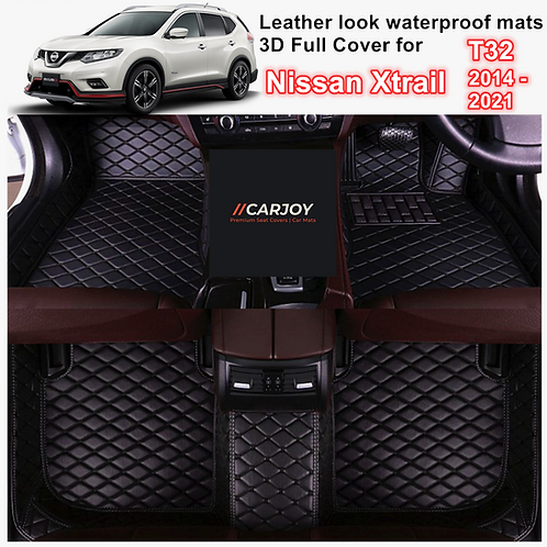 3D Moulded PU leather Waterproof Car Floor Mats for Nissan X-trail T32 14 - 2021